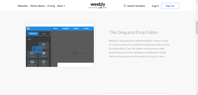 Weebly Drag-n-Drop Feature