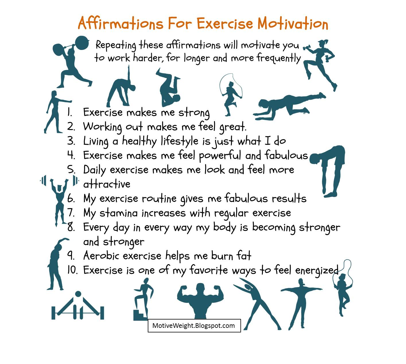 Motiveweight Affirmations For Exercise Motivation