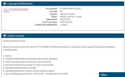 Lowongan Kerja Semarang PT Eka Prima Agung
