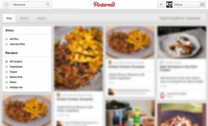 Pinterest recipe search