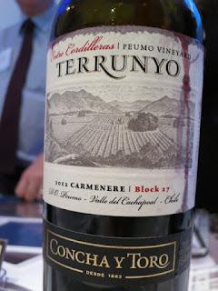 Concha Y Toro Terrunyo Peumo Vineyard Block 27 Carmenère 2012 - Entre Cordilleras, Peumo, Cachapoal Valley, Chile (90 pts)