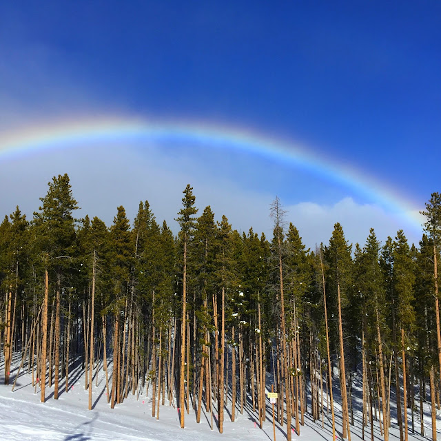 Rainbow over Breckenridge, CO