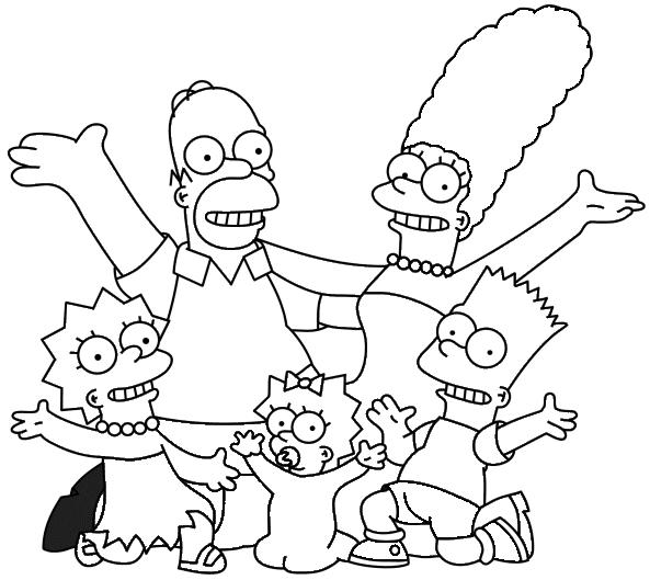 Colorir E Pintar Os Simpsons Colorir