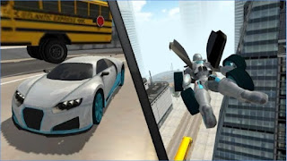 Games Flying Car Robot Simulator App