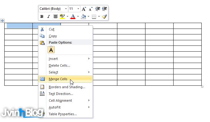 bài tập tạo bảng trong Word chi tiết nhất (#1)
