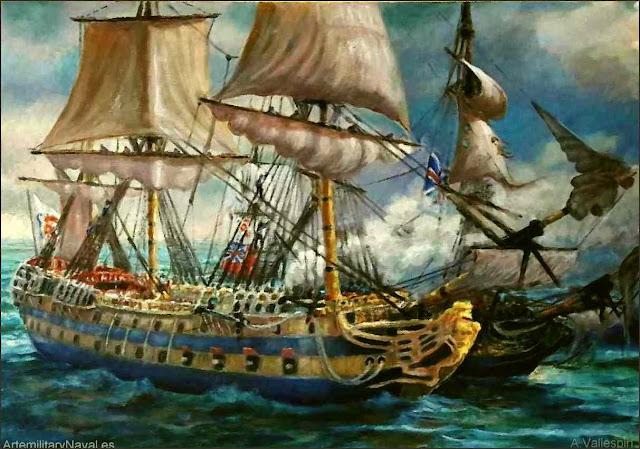 Óleo navío San Juan Nepomuceno