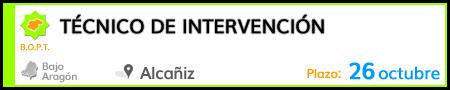 Técnico de Intervención en Alcañiz
