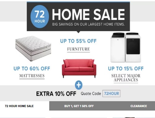 Hudson's Bay 72 Hour Home Sale + Extra 10% Off Promo Code
