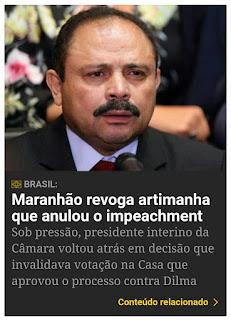 MARANHÃO REVOGA REVOGAÇÃO DO IMPEACHMENT