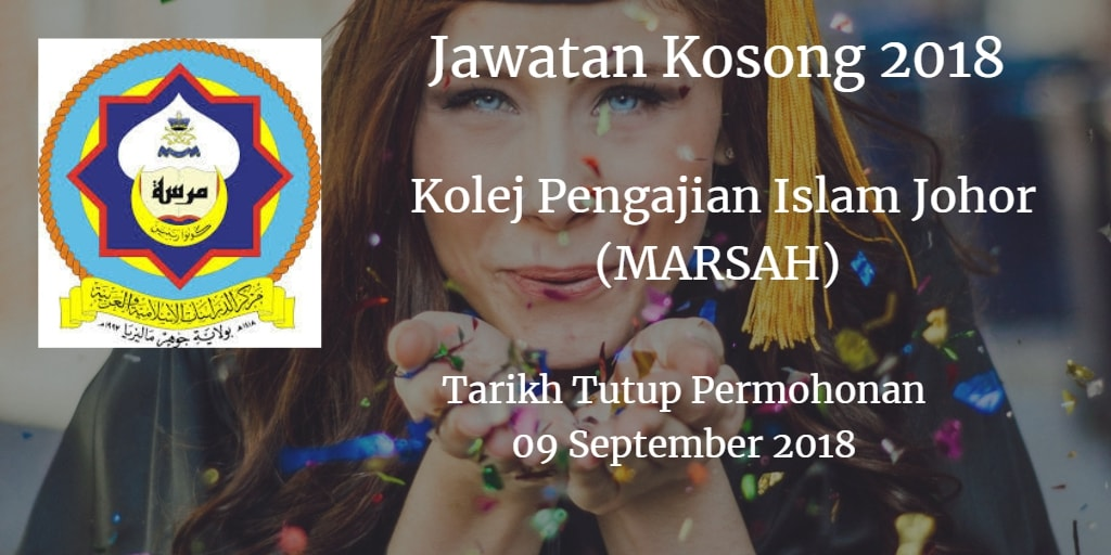 Jawatan Kosong MARSAH 09 September 2018