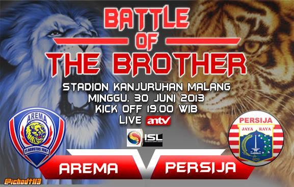 Prediksi Skor Line Up Arema Indonesia Vs Persija ISL Minggu