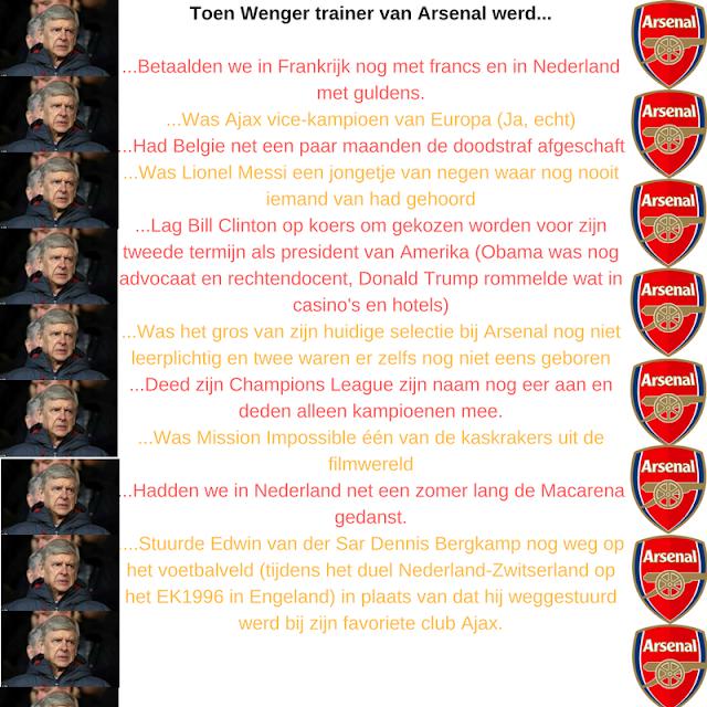 10 zaken die aan de orde waren toen Wenger trainer van Arsenal werd