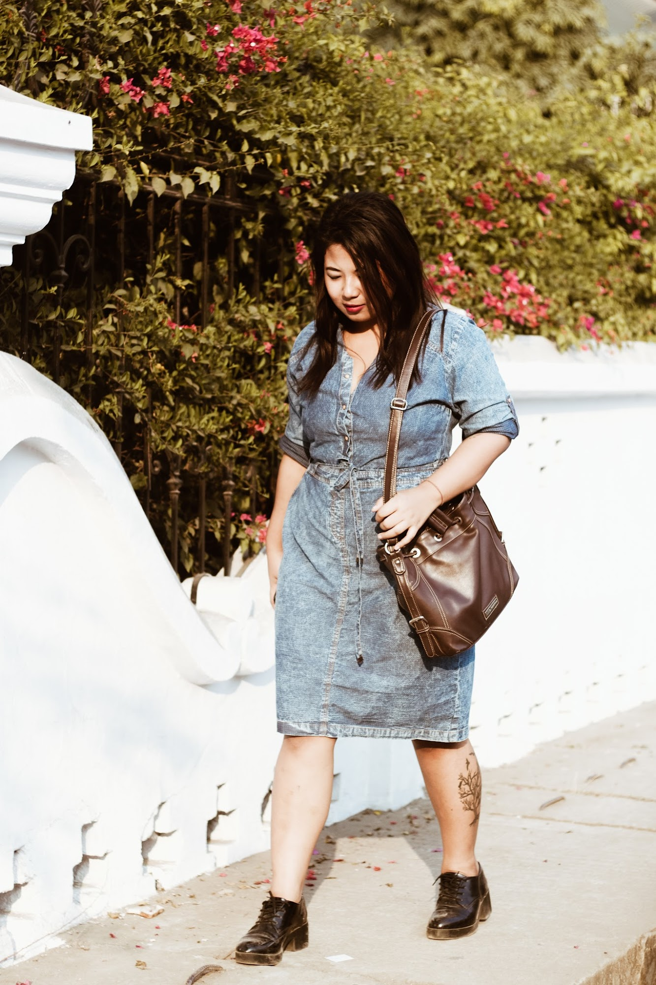 SelestyMe by Chayanika Rabha Indian fashion & Lifestyle blog in collaboration with Wearing: Shirt Dress via Myntra, Forever21 Shoe & Lino Perros bag