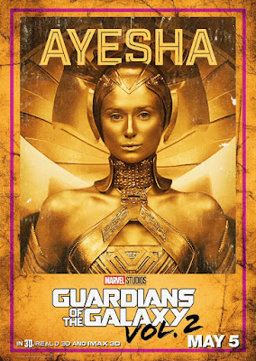 Ayesha Guardians of the Galaxy Vol 2 character poster