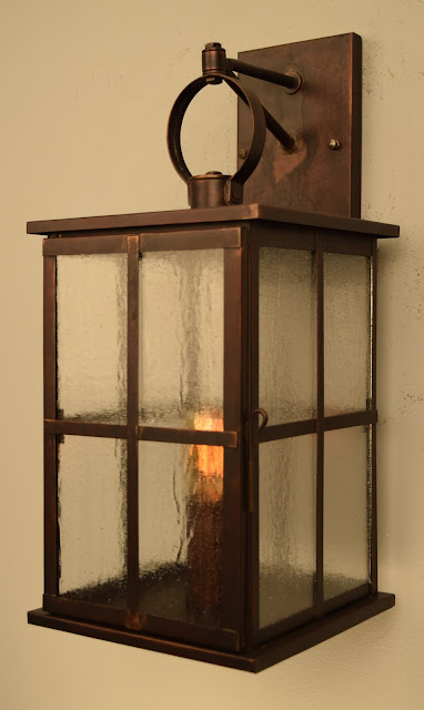 Catalan Outdoor Wall Sconce Brass Lantern