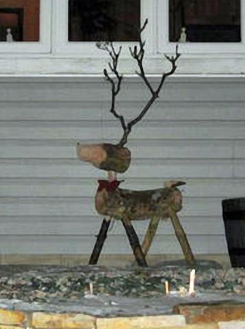 Christmas Lawn Deer