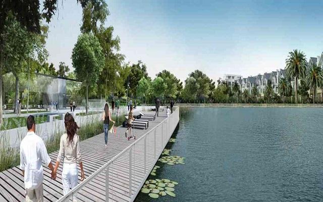Hồ điều hòa tại Hateco Xuân Phương