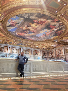 Painted ceiling at the Palazzo and The Venetian in Las Vegas Nevada