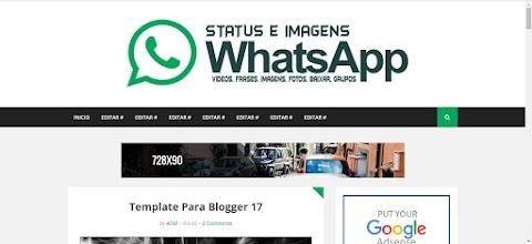 WhatsApp Blogger Template Compartilhamento