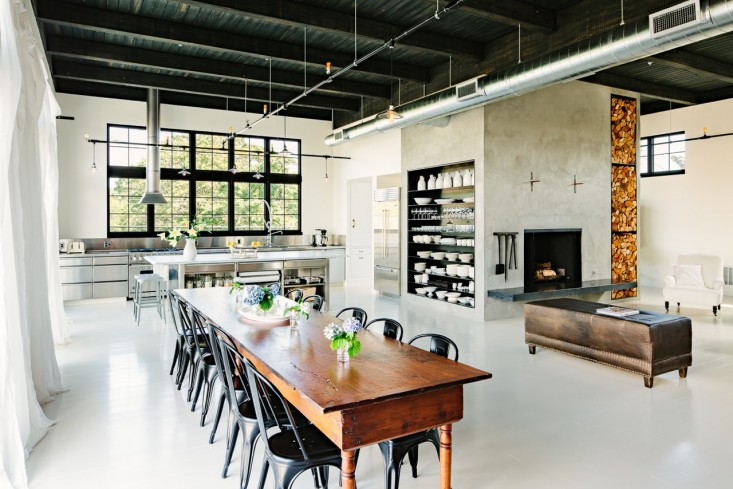 Elegant Industrial Loft Dining Room