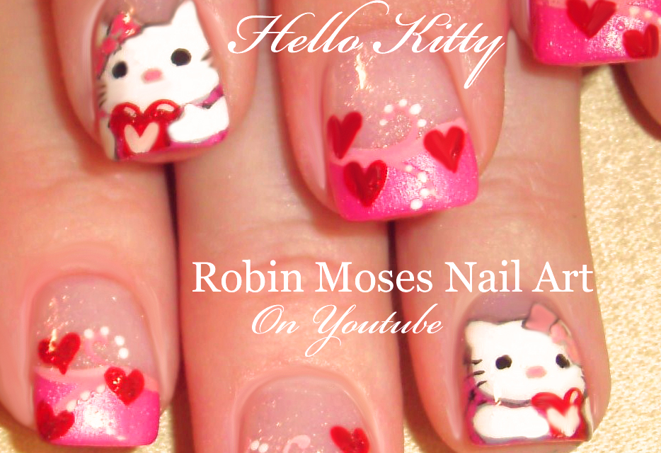 Nail Art by Robin Moses: Easy Valentine Nails! Cute ...