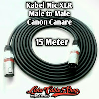 Kabel Mic XLR 15 Meter Male to Male Jack Canon Canare