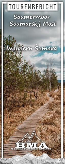 Rundweg im Säumermoor - Soumarské rašeliniště  Wandern im tschechischen Böhmerwald  Nationalpark Sumava 06