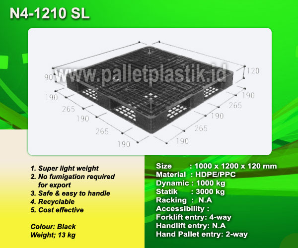 jual pallet plastik N4-1210 sl