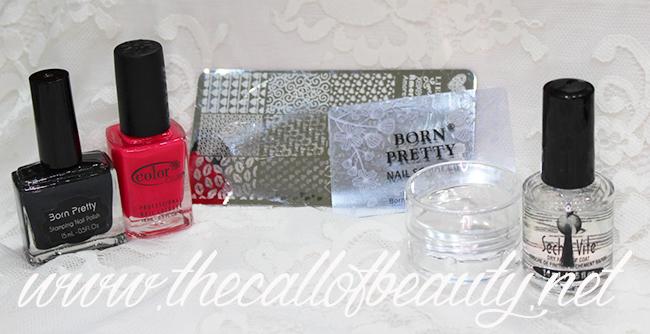 Black & Pink Neon Valentine's Manicure