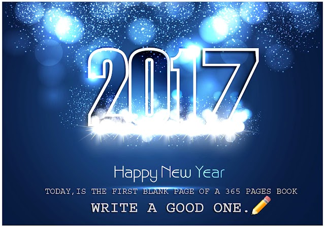"Today is the first blank page of a 365 pages  book ""WRITE A GOOD ONE"""