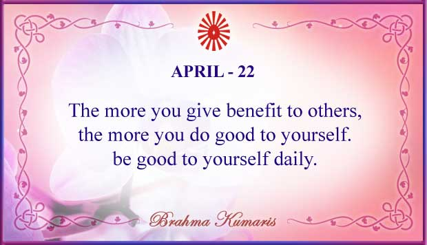 Thought For The Day April 22