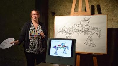 Anne-Laure Cronier médiatrice culturelle - photographie : www.ouest-france.fr