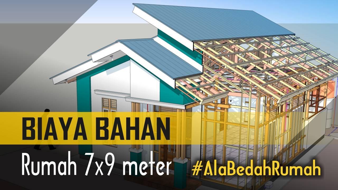 Hitung BIAYA BAHAN Rumah 7x9 Meter Ala BEDAH RUMAH