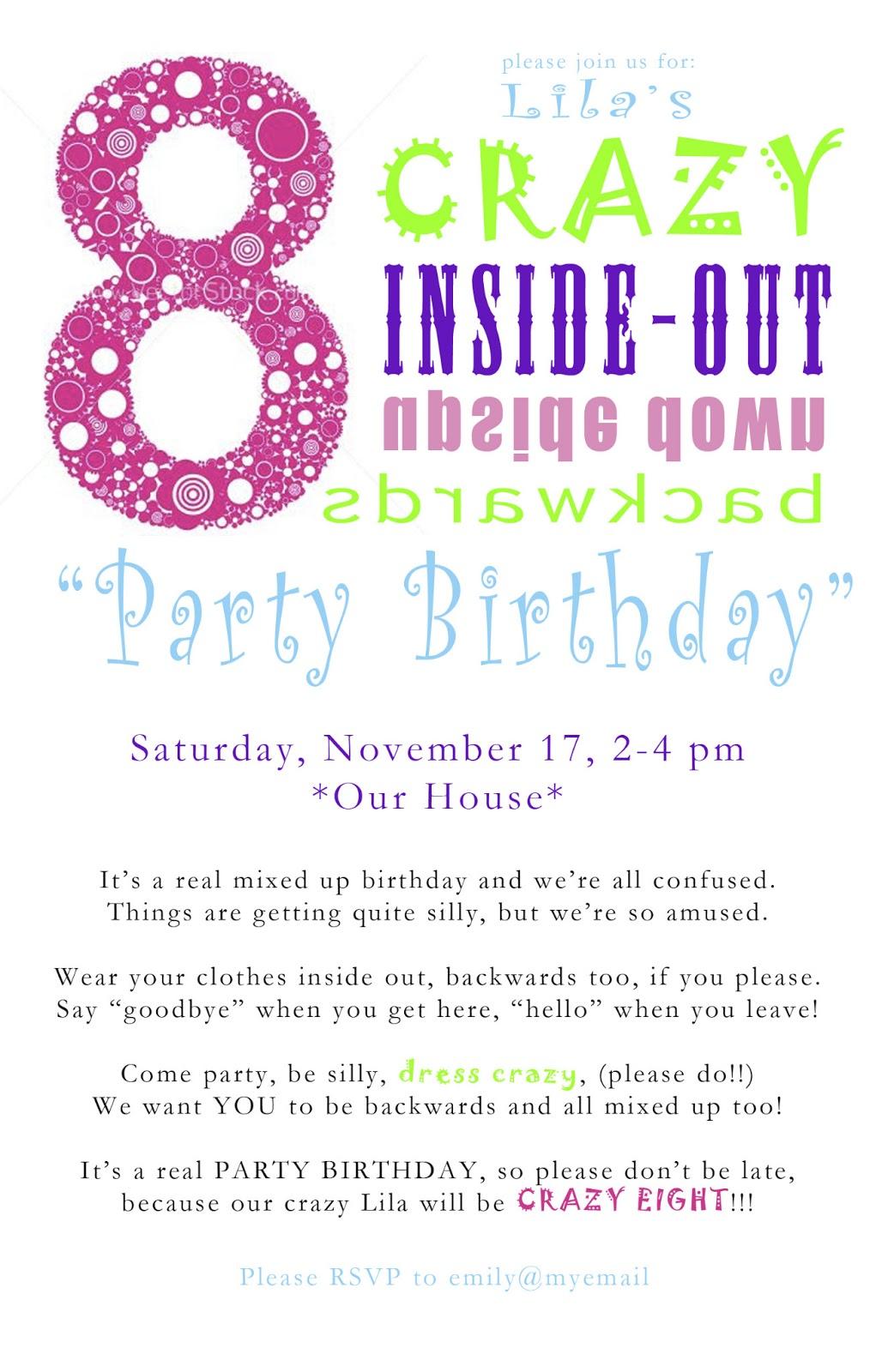 Crazy 8 Birthday Party