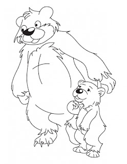 animals and their young ones kids coloring pages. Black Bedroom Furniture Sets. Home Design Ideas