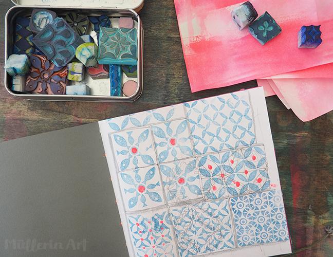 Portugiesische Muster,  skizzenheft nach ©muellerinart