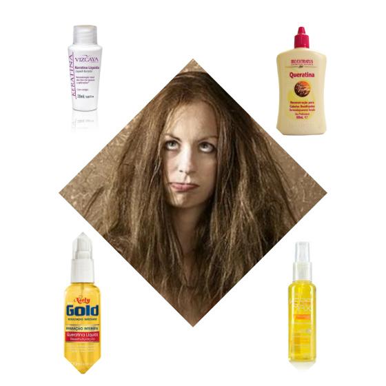queratina liquida cabelo detonado