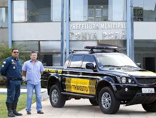 Polícia Federal doa veículo para  Guarda Municipal de Ponta Porã (MS)