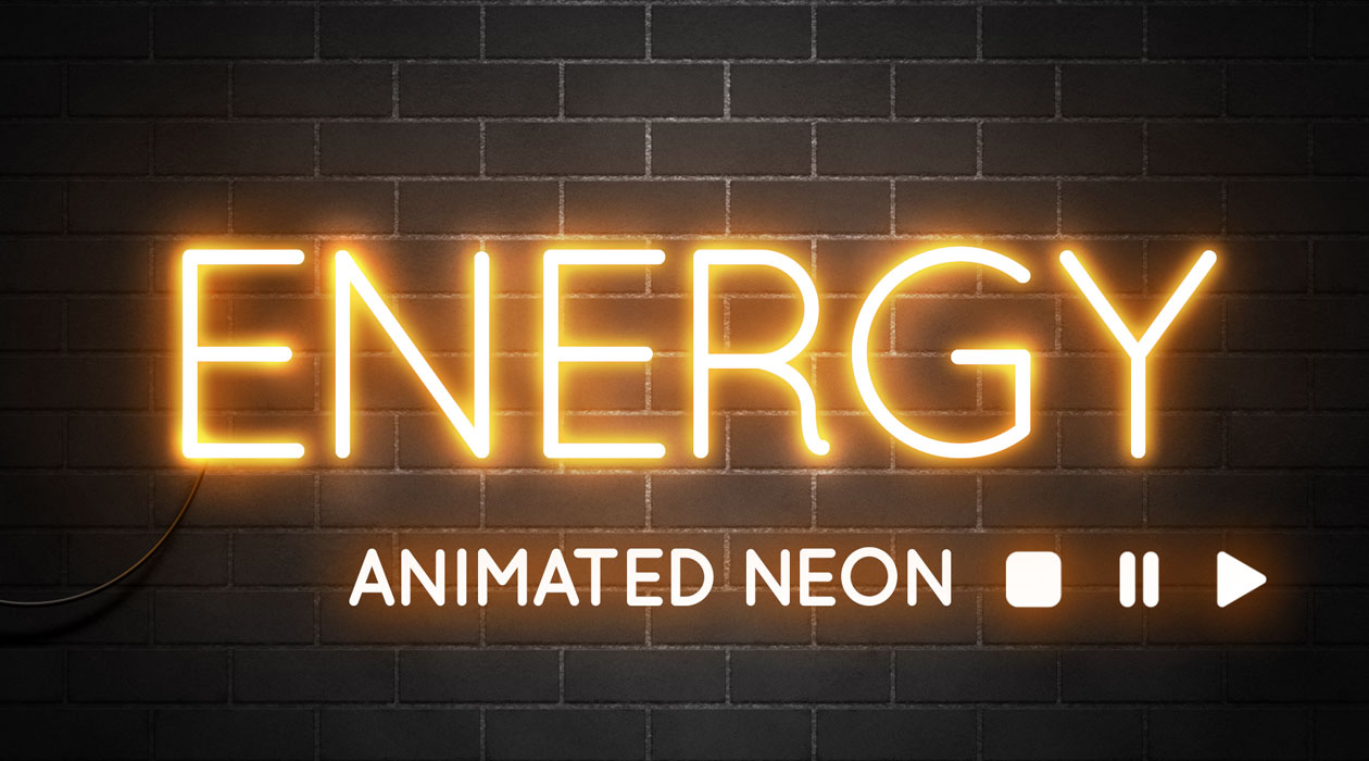 How To Create an Animated Neon Text Effect in Photoshop | dR