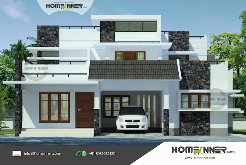 Luxury Modern 4 Bedroom Villa Design in 2354 sqft .psd