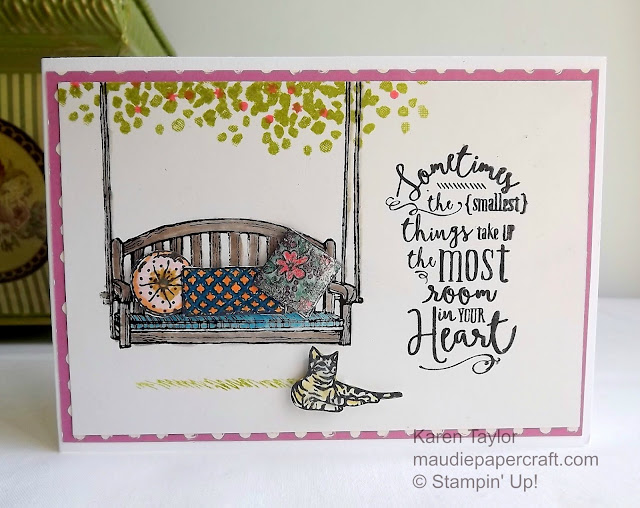 Stampin' Up! Sitting Here meets Layering Love