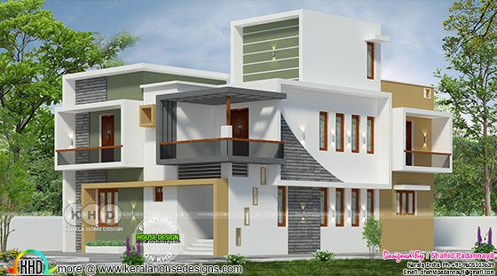 3020 square feet flat roof modern house
