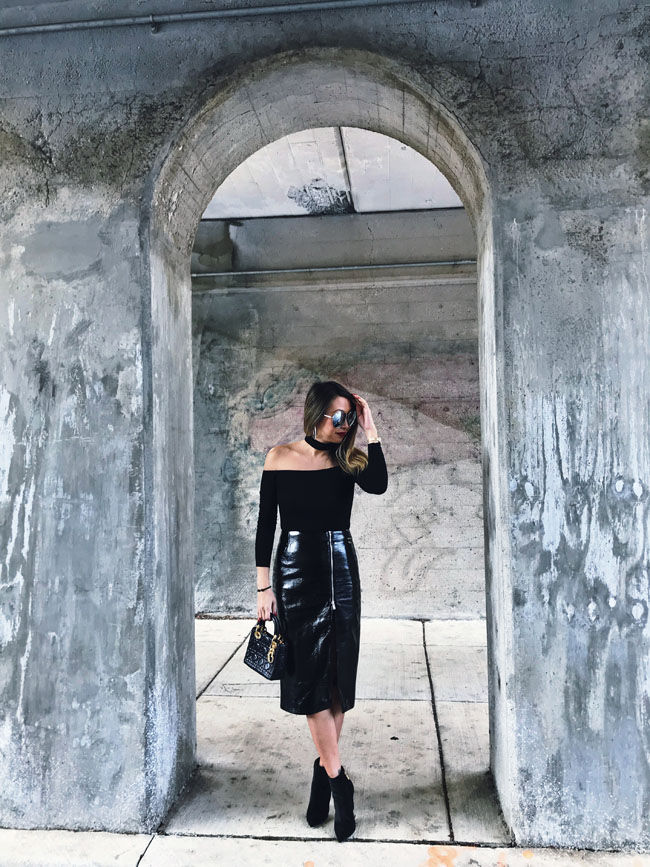 Black Vinyl Skirt, TopShop Black Pencil Skirt, Nordstrom Vinyl Skirt, Jennifer Worman, Chicago Style Blogger