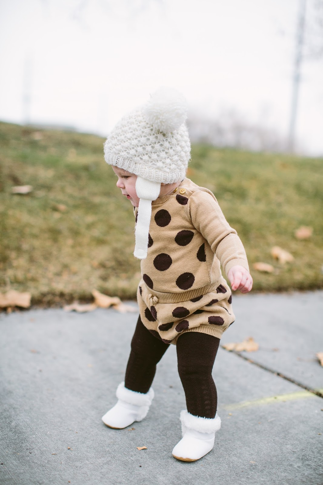 Baby Winter Outfit, Brown Tights, Baby Fashion Blogger