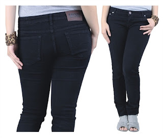 Celana Jeans Wanita Trbaru Hitam Pekat