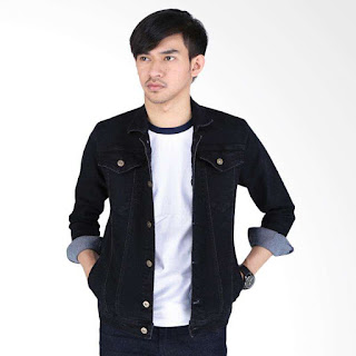 Catenzo Lucas BE 065 Jaket Couple Denim Pria