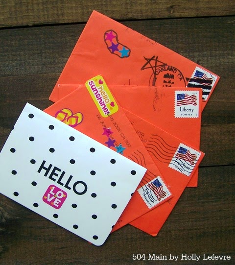 Decorate inexpensive notes cards with stickers.