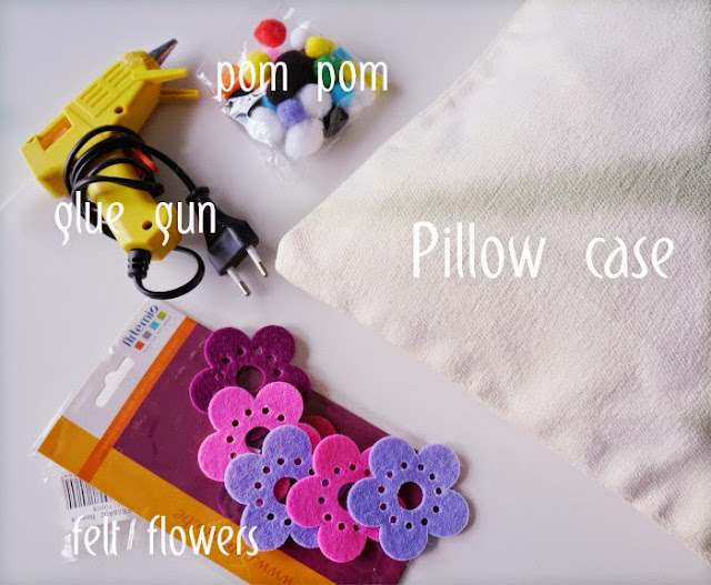 DIY pillow case-materials
