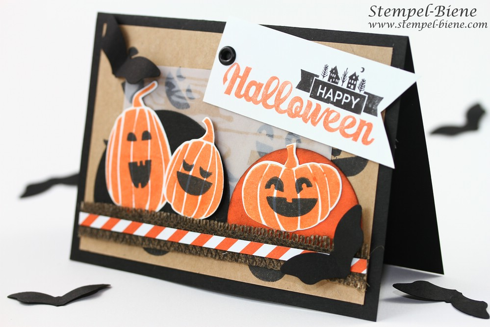 stempel biene happy halloween. Black Bedroom Furniture Sets. Home Design Ideas