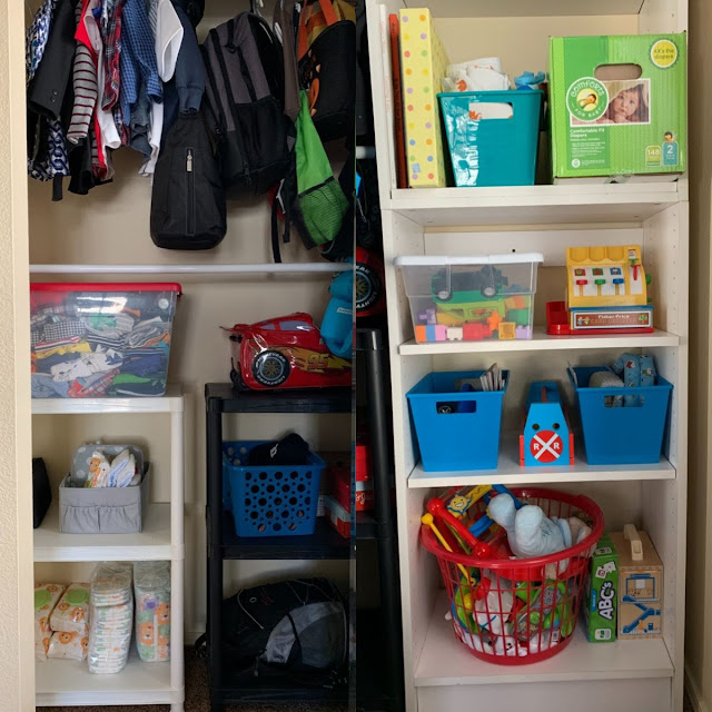 Budget-friendly toddler closet organizing ideas-After